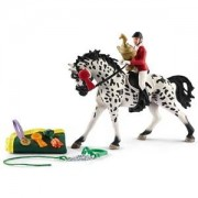 Schleich Unisex Figurines and playsets White Showjumping tournament w. Knabstrupper
