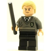 LEGO Harry Potter Minifig Draco Malfoy Slytherin Stripe and Shield