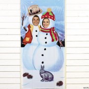 Banner da porta Pupazzi di neve - Foto per la tua festa!