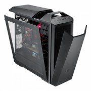 "CARCASA COOLER MASTER. MasterCase. Maker 5, mid-tower, ATX, 3* 140mm fan (inclus), I/O panel, side window, fan controller, LED strip, black ""MCZ-005M-KWN00"""