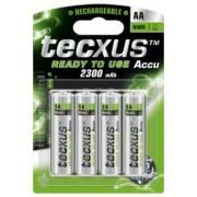 Tecxus accus Nimh type AA 2 100 mAh - Lot de 4