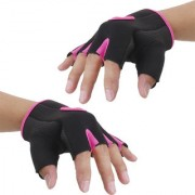 Imported Unisex Breathable Half Finger Bike Bicycle Cycling Riding Gloves Pink XL