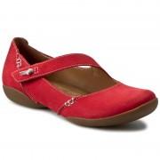 Обувки CLARKS - Felicia Plum 261155934 Red Nubuck