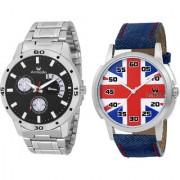 Armado AR-BLK-7132 Combo Of 2 Elegant Watches-For Men
