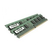 Crucial - Aggiornamento memoria Dimm Desktop (1 GB Kit - 512mbx2, 240-pin, DDR2 PC2-5300, Cl=5,1.8v)