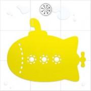 Tapete Para Box Banheiro Beatles Yellow Submarine Amarelo