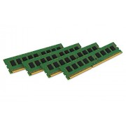 Kingston KVR18R13S8K4/16 Memoria RAM da 16 GB, 1866 MHz, DDR3, ECC Reg CL13 DIMM Kit (4x4 GB), 240-pin