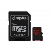 Card Kingston microSDXC 128GB Clasa 10 UHS-I U3 cu adaptor SD