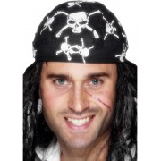 Bandana de pirat cu cranii