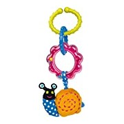 Oops Soft Colourful and Multi-Textured Car Seat and Pram Toy in Super Cute Snail Design