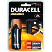Luz frontal de bicicleta Duracell 3 LED (BIK-F01WDU)