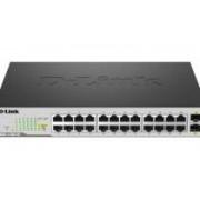 D-Link DGS-1100-26 26-Port Gigabit Switch with 2 SFP ports (fanless)