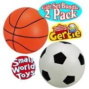 Original Gertie Ball Sports Balls Basketball & Soccer Ball Gift Set Bundle - 2 Pack