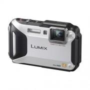 """Fotoaparát Panasonic DMC-FT5EP-S, 16Mpx, f/3.3-5.9/28-128mm, 4.6x zoom, 3""""LCD, GPS, Wi-Fi, odolný, strieborný"""
