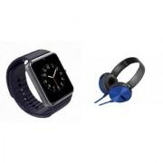 MIRZA GT08 Smart Watch & Extra Extra Bass Headphones for ASUS ZENFONE SELFIE