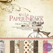 """AsianHobbyCrafts Designer Paper Theme - Romantic, 24 patterned papers(12"""" x12"""") and 3 Die Cut Sheets + Origami Sheets (100 x 100mm),10Pcs"""
