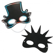 24 USA Patriotic Kids Magic DIY Scratch Masks - Uncle Sam & Statue of Liberty
