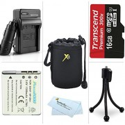 16GB Accessories Kit For Sony Cyber-shot DSC-QX10 DSC-QX100 QX100/B DSC-QX10/W DSC-QX10/B QX30 Smartphone Attachable Lens-style Camera Includes 16GB High Speed Micro SD Card + Replacement (1100Mah) NP-BN1 Battery + Charger + Soft Lens Carrying Case +