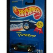 #210 Dodge Viper RT/10 Green 3-spoke Wheels Collectible Collector Car Mattel Hot Wheels