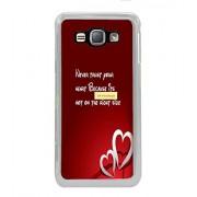 Fuson Designer Phone Back Case Cover Samsung Galaxy J1 (6) 2016 :: Samsung Galaxy J1 2016 Duos :: Samsung Galaxy J1 2016 J120F :: Samsung Galaxy Express 3 J120A :: Samsung Galaxy J1 2016 J120H J120M J120M J120T ( Never Trust Your Heart )