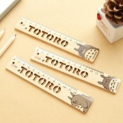 1pcs/Lot Novelty Cartoon cat Hollow Wooden Ruler Japan wood Measuring Straight Ruler office school supplies