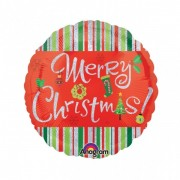 Balon folie 45 cm Craciun - Merry Christmas