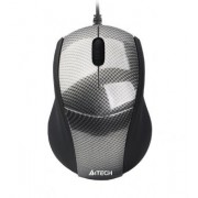 Mouse Optic USB A4TECH V-Track (N-100-1), Carbon, wired cu 2 butoane si 1 rotita scroll, rezolutie 1000-2000dpi