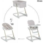 Icoo - Convertible 3 en 1 grow with me (minicuna, hamaca y trona) beige