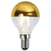 LED-lampa E14 P45 top coated filament, guld