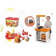 Smoby bucătărie de copii Bon Appétit Chef şi Écoiffier set hamburger 310803-1