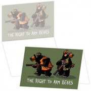 ECOeverywhere Right To Arm Bears Boxed Card Set 12 Cards and Envelopes 4 x 6 Inches Multicolored (bc11755)
