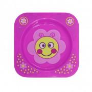 Lorelli mintás tányér Rózsaszín virágos