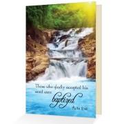 Baptism congratulations - Acts 2:41 - (Scriptural Greeting Card)