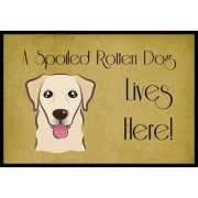 Caroline's Treasures Golden Retriever Spoiled Dog Lives Here Mat BB1500JMAT / BB1500MAT