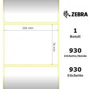 Zebra Z-Ultimate 3000T White - Etichette in poliestere di colore bianco, formato 102 x 76 mm.