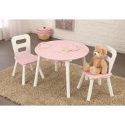 Kerek játéktárolós asztal és székek szett, Rózsaszín Kidkraft
