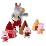 Lilliputiens Big Bad Wolf & Three Little Pigs Storybook Plush