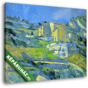 Paul Cézanne: Ház Provence-ban (30x25 cm, Vászonkép )