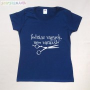 """Női Fodrászos póló """"Fodrász vagyok, nem varázsló felirattal"""""""