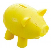 Crystal puzzle piggy bank puzzle yellow (japan import)