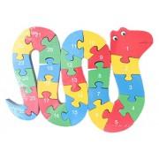 Smile Baby YKK juguete 3d de puzzles de madera de construcción construcción Madera Puzzle multicolor Schlange Talla:Größe:29cm*20cm