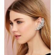Cercel tip ear cuff, model Dahlia cu cristale mari