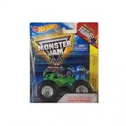 Hot Wheels Monster Jam Grave Digger with Blue Monster Jam Figure 1:64