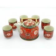 Set ceai - Flori Rosii (cod B41-2)