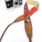 JinHua Camera Shoulder Neck Strap Belt for Fujifilm Instax Mini 25/ Mini 8/ Mini 90 Instant Camera, Polaroid Socialmatic/ Z2300 Instant/ PIC300 Instant Camera, Nikon/ Canon Camera(Black/ white dots)