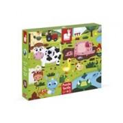 Puzzle Tactil - Animale De La Ferma (20 De Piese) - Janod