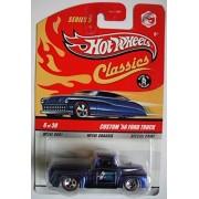Hot Wheel Classics Blue Custom 56 Ford Truck 6 Of 30 Redline 5 Spoke