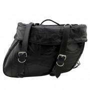 DBE 2pc Genuine Leather Motorcycle Saddle Bags DBEMOTOSDLBG1
