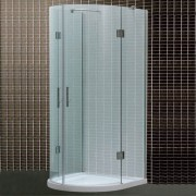 Cabina doccia tonda 90x90 con piatto doccia