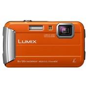 Panasonic Lumix DMC-FT30EG-D Fotocamera, 16MP, Waterproof, Optical Zoom 4x, Stabilizzatore MEGA O.I.S, Creative Filters, Video HD, Arancio